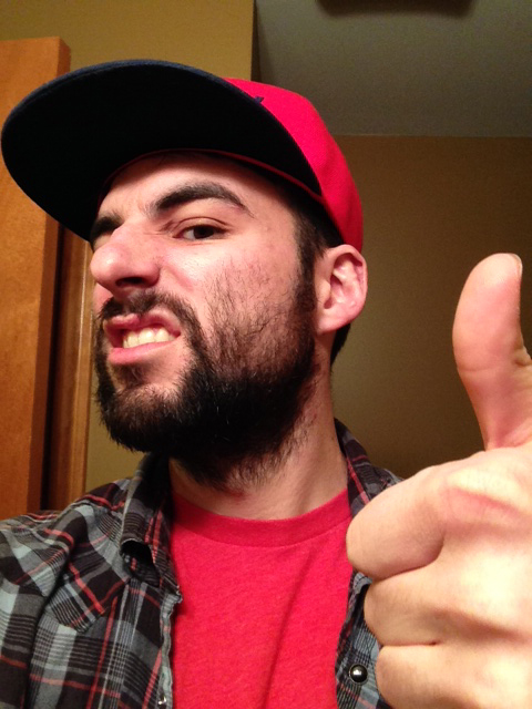 Who has at least one thumb and and a beard? Spose!